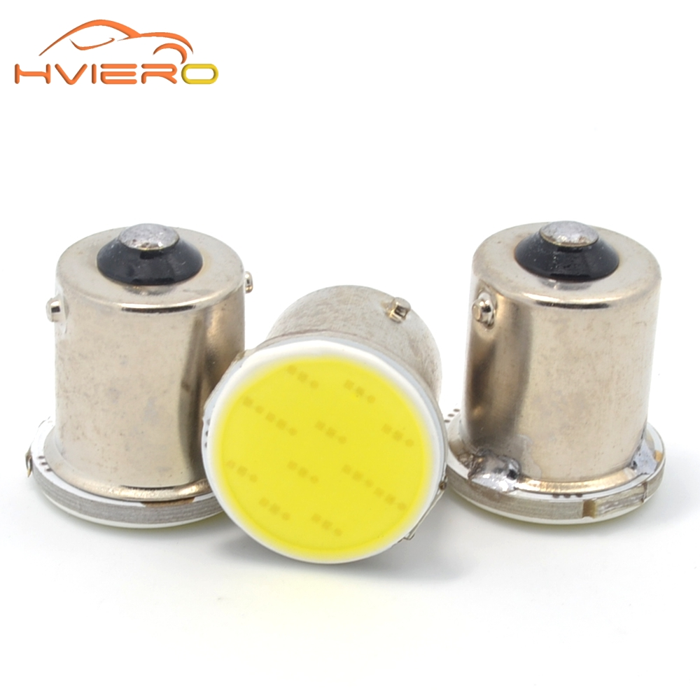 Hviero cob p21w White 12 SMD 1156 BA15S 1157 BA15D DC 12v Rear Turn Signal bulbs Trailer Truck Light