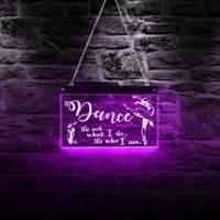 Custom Ballerina LED Neon Sign Ballet Color Changing Acrylic Motivational Quote Dancing Studio Girl Room LED Lighting Decoration