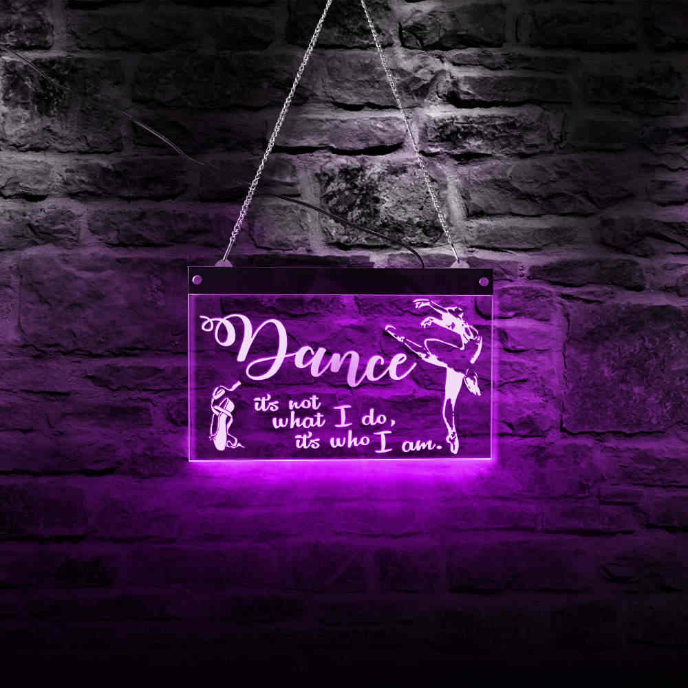 Personalizado Bailarina Led Neon Sign Ballet Color Que