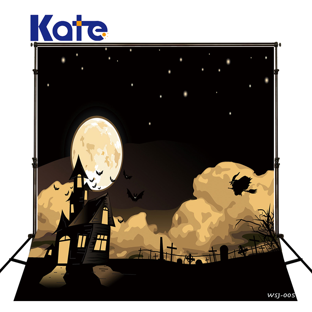 KATE Photography Background Halloween Backdrop Backdrop Photo Studio Moon Naturism Children Photos Backgrounds for Photo Studio allenjoy background for photo studio full moon spider black cat pumpkin halloween backdrop newborn original design fantasy props