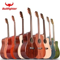 41 inch spruce mahogany acoustic guitar choose double pickup play folk guitar brand solid wood guitar professional fingerstyle