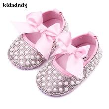 2017 Új Bow Princess Cipő Baby Soft Bottom Iskolai Cipő 0-1 éves Nő Tavaszi és Őszi Baba Cipő YD206