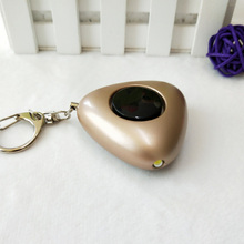 25pcs pack golden color keychain alarm portable keyring