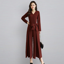 Wine Red Bandage Jumpsuit womanBlack Spandex Long Sleeve Bodies Woman Sexy Roupa Feminina Kombi Elegant Rompers Womens 70Q001