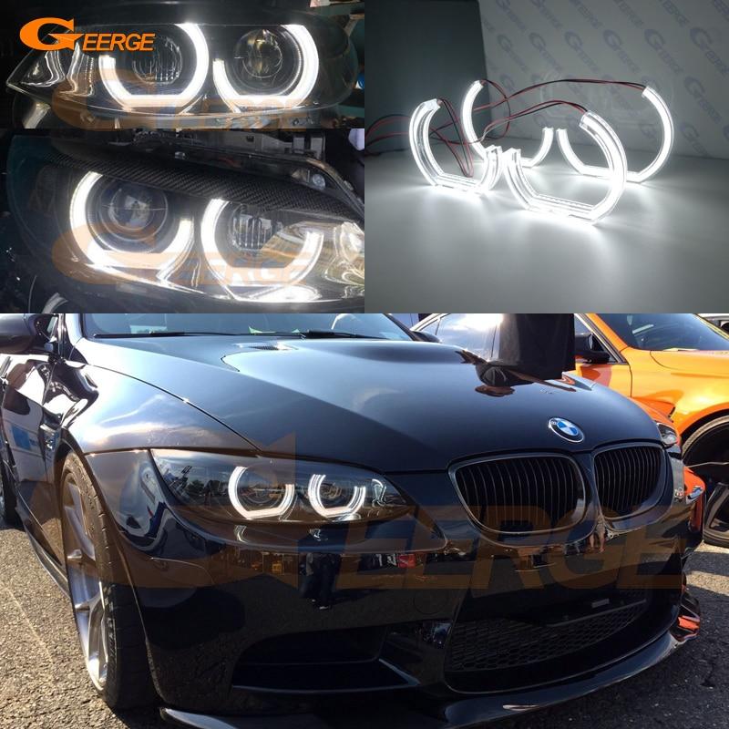 Para BMW Série 3 E90 E92 E93 M3 Cupê e cabriolet 2007-2013 Excelente DTM Estilo M4 Ultra bright led Angel Eyes kit