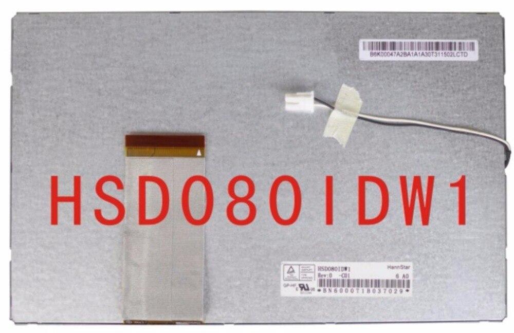 Original 8 écran lcd hsd080idw1 c00 c01 portable dvd de voiture dvd d'affichage écran