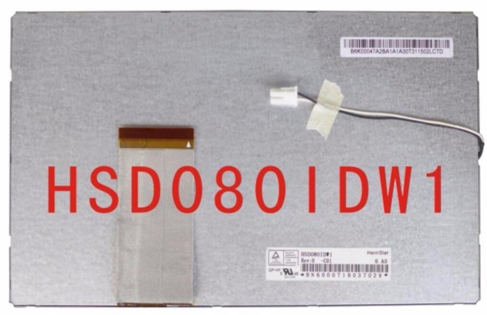 Original 8 lcd screen hsd080idw1 c00 c01 portable dvd car dvd display screen