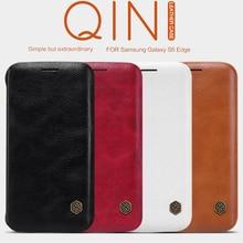 Originil NILLKIN Серии Бумажник Flip Leather Case cover For Samsung Galaxy S6 Edge G9250 Подлинная Кожи Сальто Case Для S6 край