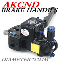 AKCND 17.5mm Motorcycle Brake Clutch Master Cylinder Hydraulic Pump handle For Yamaha nmax155 bws smax R1/R6 Kawasaki Hinda dio