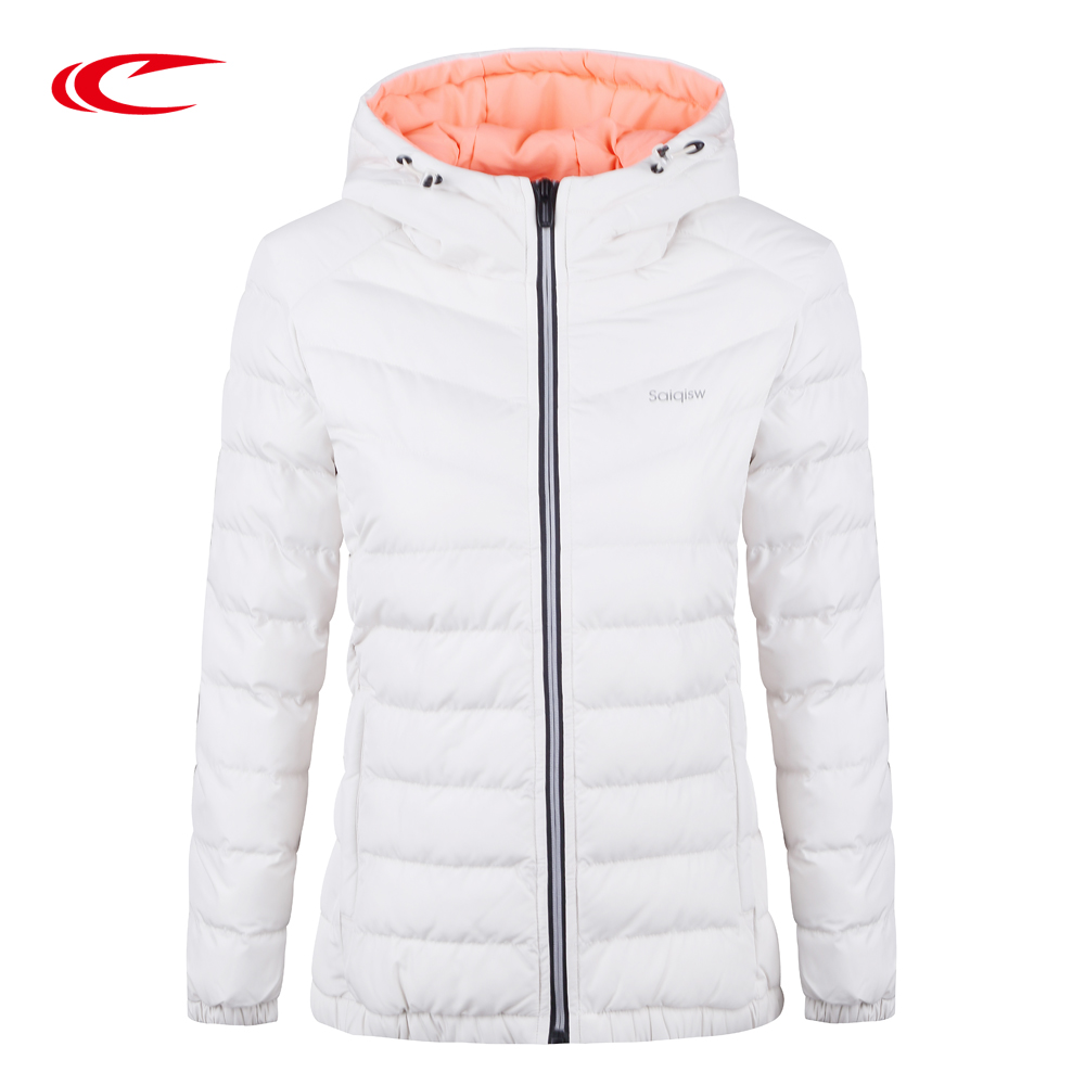 SAIQI Hiking Jacket For Women Outdoor Warm Coat Female Cotton Parka Lady Hooded Padded Outerwear Warm Camping Jacket Sport Parka 2018 autunm warm sweatshirt parka folk custom print hoodies cotton women crop top hoodie moleton feminino dropshipping ag 15