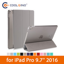 Tablet Smart Case For iPad Pro 9.7 2016 Protective Cover Tri-folded PU Leather+PC Connection Tablets Case For iPad 9.7 Case Pro