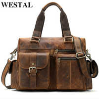 Западная Натуральная кожа Мужская сумка через плечо Повседневная Мужская портфель для ноутбука сумки компьютерные кожаные сумки для докум...