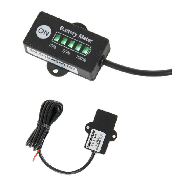 12V Polarlander Battery Fuel Gauge indicator for 12V Lead-Acid battery meter SLA AGM GEL VRLA battery Pack