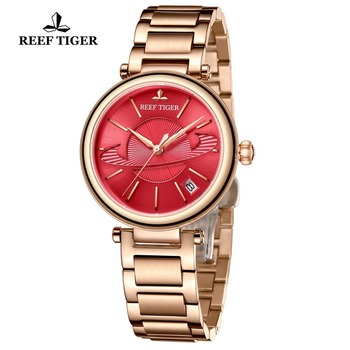 Reef Tiger/RT Luxury Brand Women Watches Designer Mechanical Bracelet Watch Relogio Feminino Gift for Ladies RGA1591