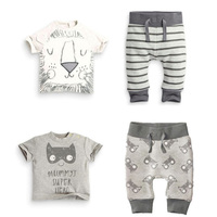 Summer Baby Boy Clothes Set Cute Panda Newborn Set Striped Baby Boy Clothing Cartoon Baby Boy