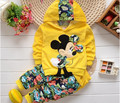 New Girl Clothing Sets Kids 2016 Autumn Children Velvet Clothing Set Cartoon Baby Girls Tracksuits Hoodies + Pants
