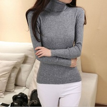 2016 New Women Candy Turtleneck Pullover Ladies sweaters Shirt Hot Sale Wool knitted sweater Female Warm Tops Qulity Clothing