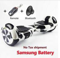 Samsung Battery Bluetooch Remote 2 Wheels Self Balance Electric Scooter 6 5 Inch Standing Drift Board