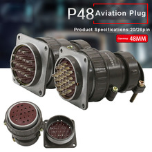 цена на Aviation Connector P48 20pin 26pin Plug Socket P48K5Q P48K6Q 48MM Round Connectors for Automation Equipment