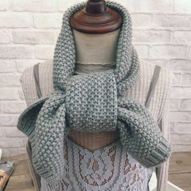 6e2f04d45d35f Nouveau garçon fille bébé hiver couleur unie écharpe chaud tricot laine  écharpe enfants hiver cou plus