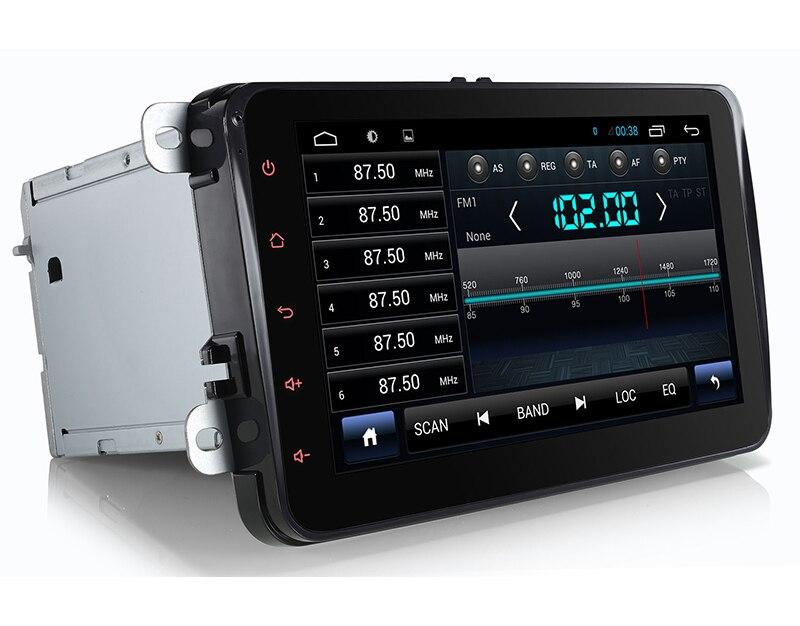 4 Quad, 16 GB Nand Flash, pour VW Touran DVD GPS Navigation pour Volkswagen Touran Radio Android 4.4.4 système écran 8 pouces