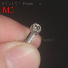 Cap Screw M2*4/5/6/8/10/12/16/20 Stainless Steel 304 Hexagon Hex Socket Head Allen Bolt Furniture Fastener