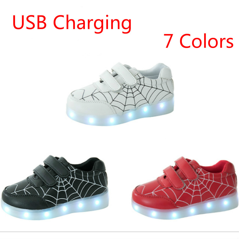 307c790e3 2018 New Luminous Children Sneakers Kid Led Lighted Shoes Boys Girls Tenis  With Lights USB Shoes Led Simulation Glowing Sneakers