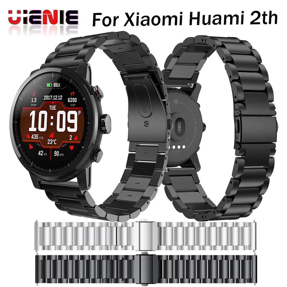 22mm en acier Inoxydable Bracelet pour Origine Xiaomi Huami Amazfit Stratos 2 2th rythme de courroie de bande bracelet smart watch Bande 2018