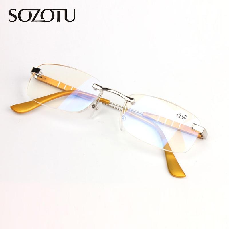 SOZOTU AL-MG Montura Gafas de lectura magnéticas Hombres Mujeres - Accesorios para la ropa