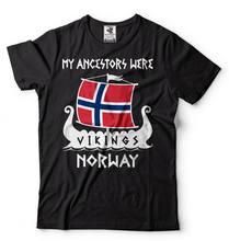 2018 Hot sale Da Moda 100% algodão Meus Antepassados Eram Vikings T-shirt  Noruega Drakkar Vikings Camiseta camiseta ea522d6177db7