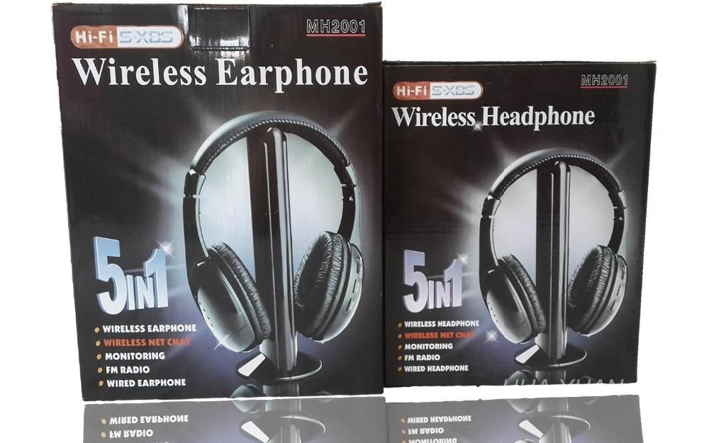 5 IN 1 HIFI bežične slušalice TV / računalo FM radio slušalice - Prijenosni audio i video - Foto 2