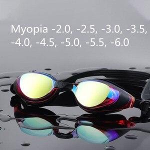 Image 3 - 361 קוצר ראייה שחייה משקפי מרשם משקפיים שחייה לברכה שיקוף Diopter השחייה למבוגרים גברים נשים ילדים