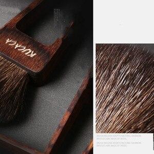 Image 4 - Beautypapa Juego de brochas de maquillaje, diseño de triángulo, pelo de cabra, colorete, sombra de ojos, profesional, hecho a mano