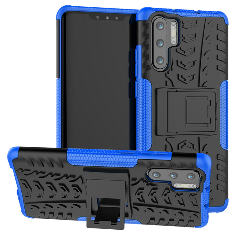 30pcs lot For Huawei P30 Lite P30 Pro Shockproof Tyre Removable Armor Case Case With Stand