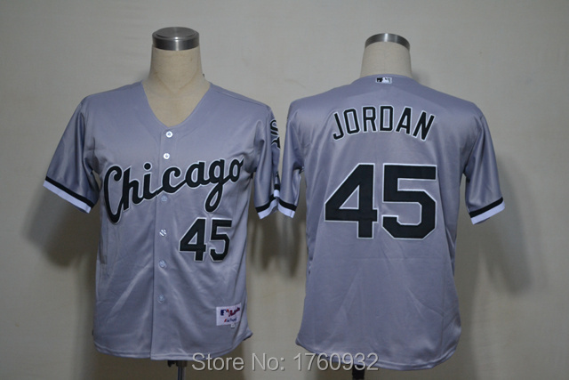 new styles 35952 f6e7f mens chicago white sox 45 michael jordan 2015 grey jersey