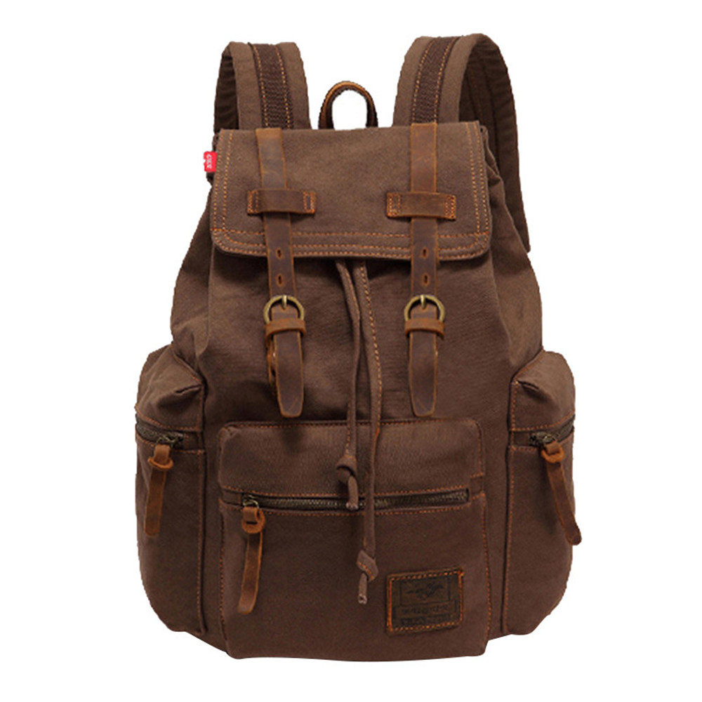 New Men Backpack Canvas Backpack Bags College Student Book Bag Large Capacity Fashion Backpack 14inch Laptop Bag augur to 15laptop canvas school bags for teenage boys college student computer book bag stylish large capacity travel men bag