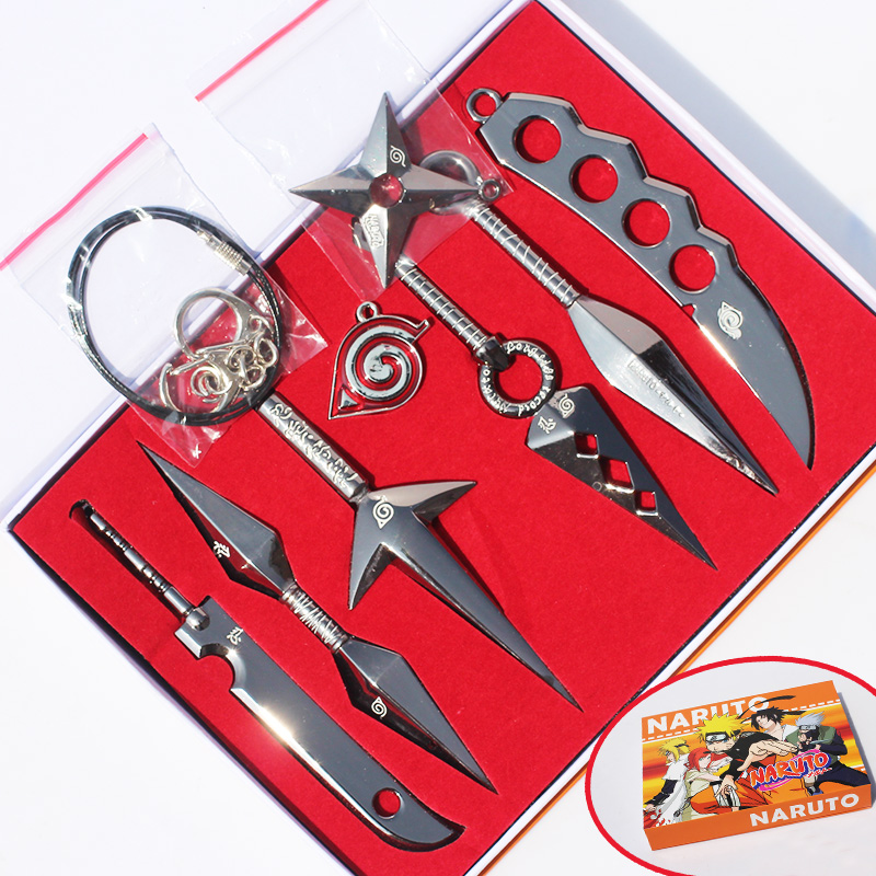 7Pcs Hatake Kakashi Deidara Kunai Shuriken Weapons