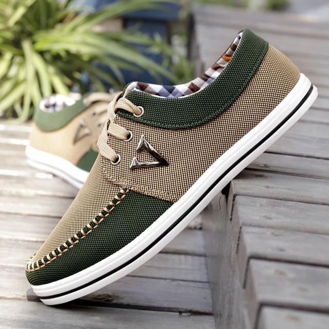 2016 Homens Sapatos Da Moda Tendência Sapatos Masculinos Sapatos Casuais Sapatos de Lona Homens Baixos Sapatos de Lazer Masculino Outono Plana Respirável Zapatillas Hombre