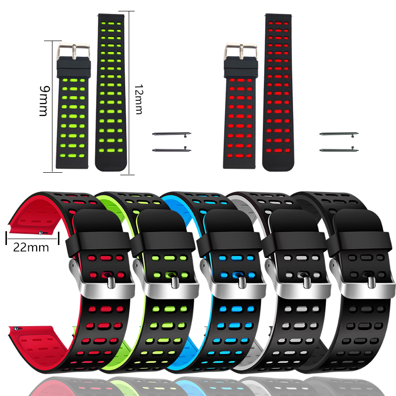 BANGWEI Smart Watch Strap 22MM Wristband Waterproof Silicone Bracelet With Black Blue Red Gray Green For BW0040 BW0051 BW0060