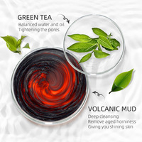 Matcha Mud Facial Mask Cream Whitening Anti-Aging Blackhead Remover Acne Treatment Deep Cleaning Oil-Control Moisturizing 4
