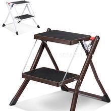 Лестница домашняя Двухступенчатая маленькая лестница Нескользящая портативная складная лестница елочка шаг табурет