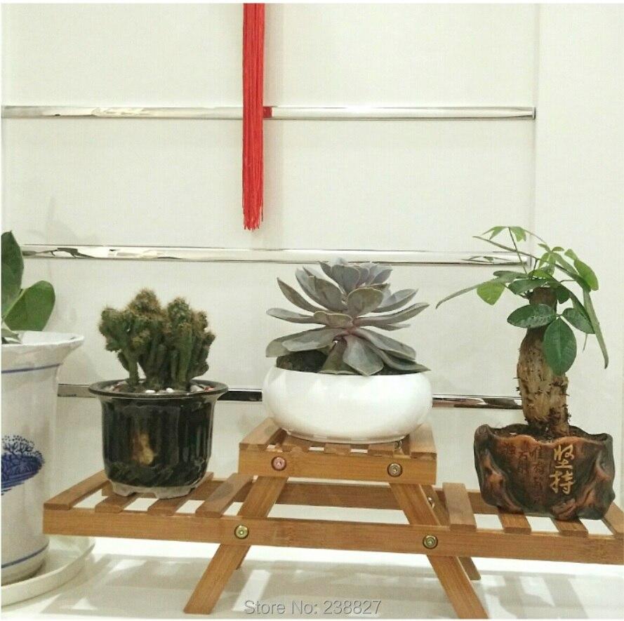Norme Dtu Placo Salle De Bain ~ Bambou Petit Pot De Fleur Plateaux De Stockage De Bureau 2 Niveau