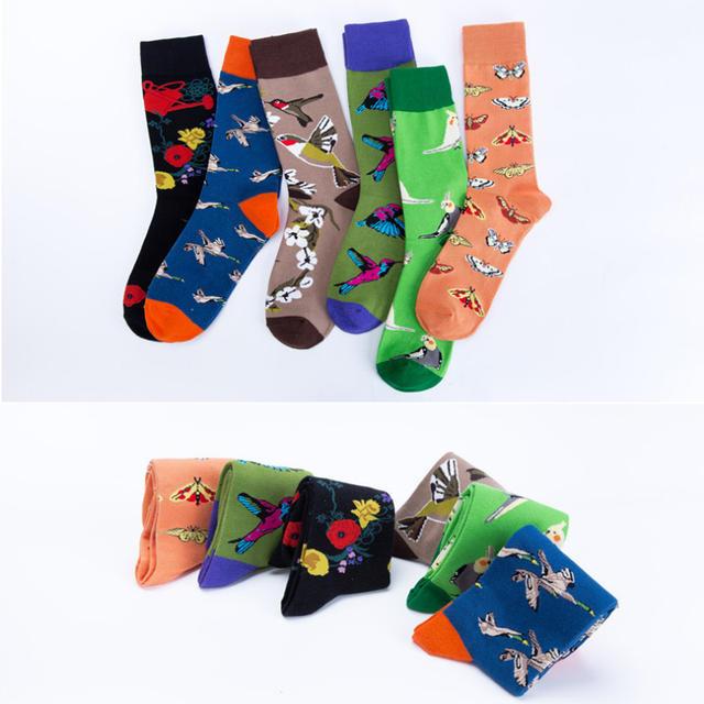 New Arrived 2018 Hot Men Women Happy Socks Crazy Animals Design British Style Cotton Long Crew Socks Chaussettes Homme Fantaisie