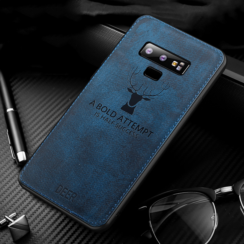 MAKAVO-For-Samsung-Galaxy-Note-9-Case-Retro-Fabric-Cloth-Texture-Soft-Cover-Anti-Sweat-Phone (7)