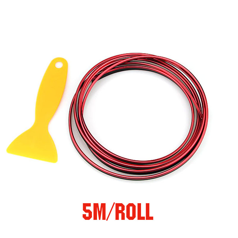 Image 5 - 5M Red Car Interior Moulding Trims Line Strips Car Styling Door Dashboard Air Outlet Decorative Sticker Auto Accessories-in Car Stickers from Automobiles & Motorcycles