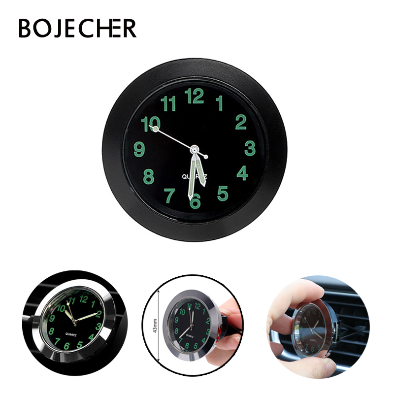 Car Clock Luminous Auto Gauge Clock Mini Car Air Vent Clip Clock Quartz Mechanics Clocks Digital Watch Automotive Styling Gifts