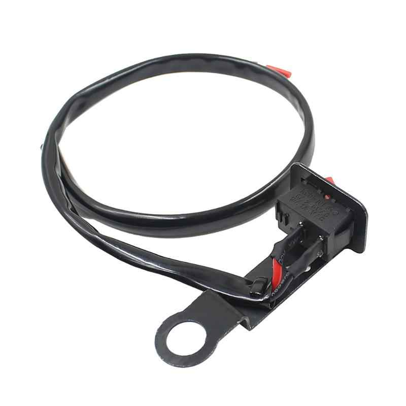 flameout motorcycle switch with fixed wiring harness fixed on bracket  of rearview mirror motorcycle handlebar switches