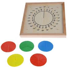 Montessori Material Wooden Circular Fractions Scoreboard Kid Educational Toy Child Gift Math