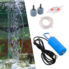 Aquarium Mini USB Oxygen Air Pump With Accessories Stone Check Valve Tube Mute Energy Saving Supplies Fish Tank Accessories#(China)