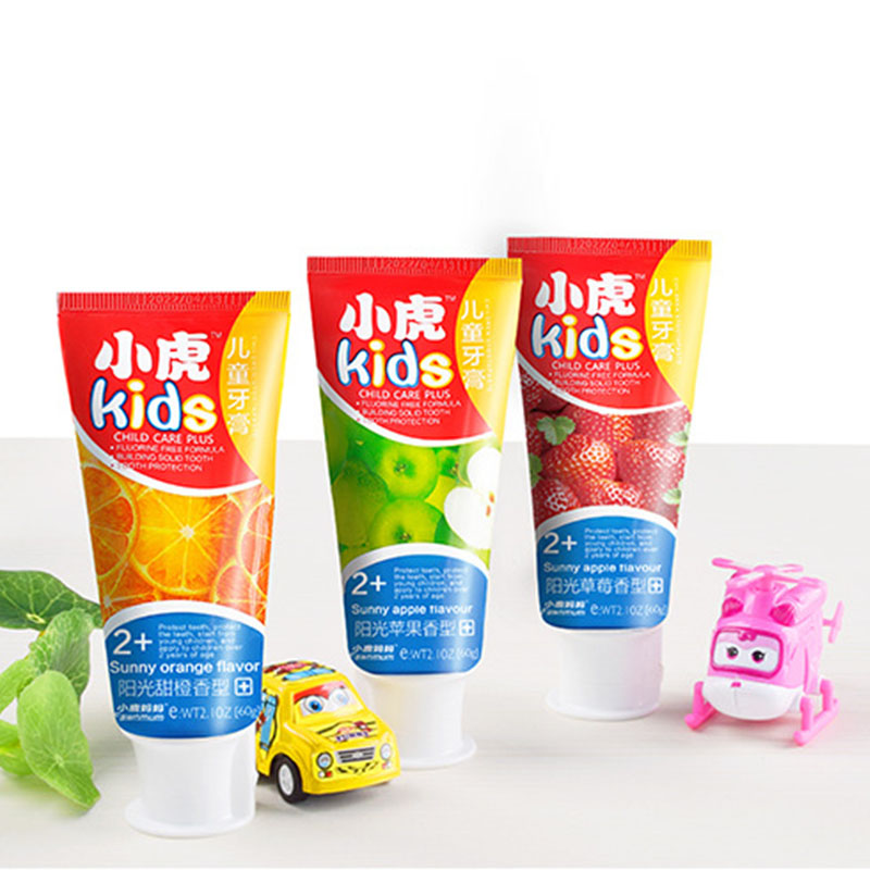 2-12Years Toothpaste Children's Fluorine Free Toothpaste Anti-caries Organic Toothpaste Teeth Whitening Cleaning Hygiene Dental
